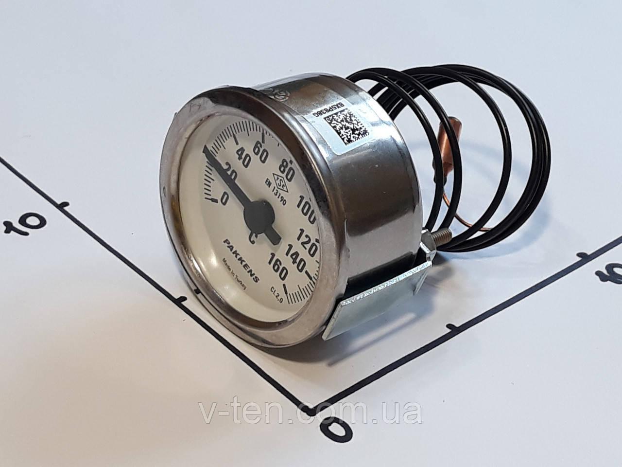 Термометр Ø60мм / 160°С / L-100 cм капиллярный PAKKENS (Турция)