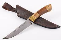 Нож охотничий ручной работы GW элитный, разделочный, кожаный чехол в комплекте + эксклюзивные фото