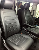 Чехлы на сиденья Опель Тигра (Opel Tigra) (1+1,универсальные, кожзам+автоткань, с отдельным подголовником)