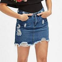 Джинсовя юбка. Модель 760