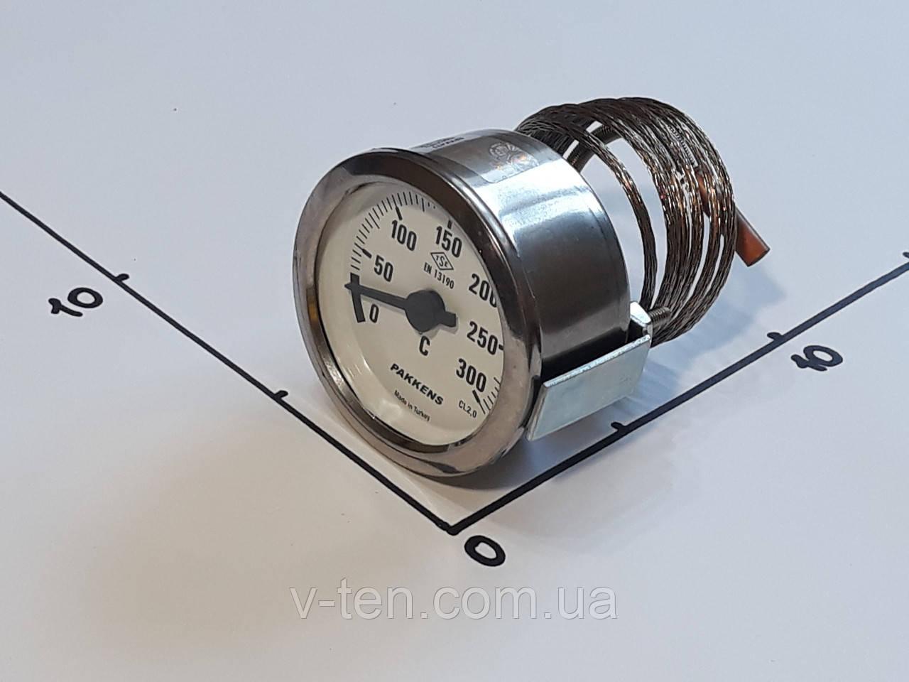 Термометр капиллярный Ø60мм / 300°С / L-100 cм PAKKENS (Турция)