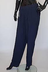 Штапельные женские штаны с резинкой в поясе