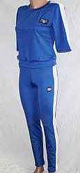 Спортивный костюм Gucci: футболка с рукавами по локоть и лосины с высокой талией и утяжкой синий реплика