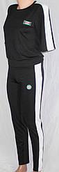 Спортивный костюм Gucci: футболка с рукавами по локоть и лосины с высокой талией и утяжкой черный реплика