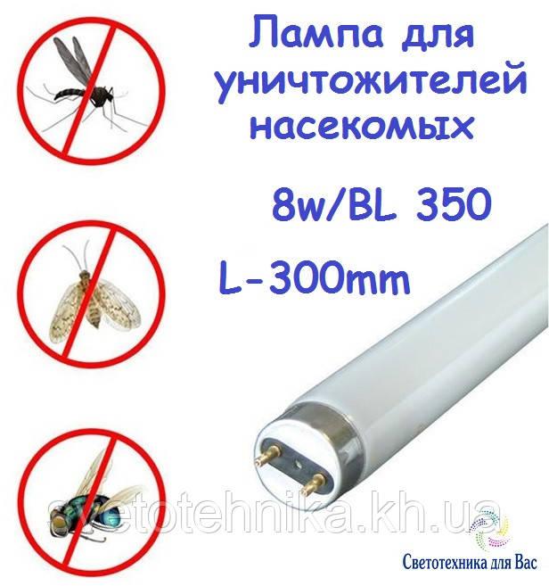 Люмінесцентна лампа ультрафіолетова insect Delux BL 350 G5 8W для того, що знищує комарів, фото 1