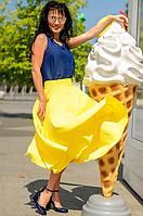 Женская юбка - солнце ниже колена на лето