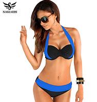 Женский раздельный купальник на косточках с двойным push-up, красиво приподнимается и соблазнительно округляет