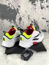 Женские кроссовки в стиле Dior Homme B22 Calfskin Trainer White Red Yellow, фото 3