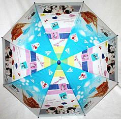 Зонт-трость детский SR К020 сине-белый котята