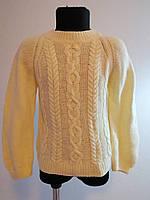 Детский вязаный свитер ручной работы для мальчика 128-134 см