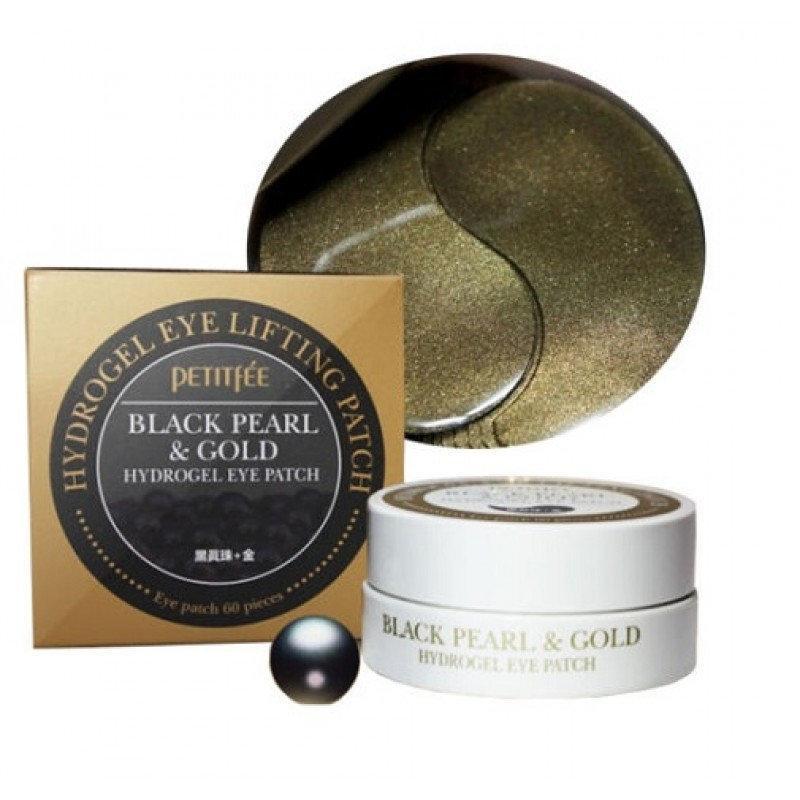 Патчи с черным жемчугом и золотом PETITFEE Black Pearl & Gold Hydrogel Eye Patch 60 шт КОРЕЯ
