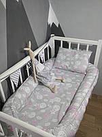 Кокон-гнездышко для новорожденных 0-18 мес с дополнительным матрасиком