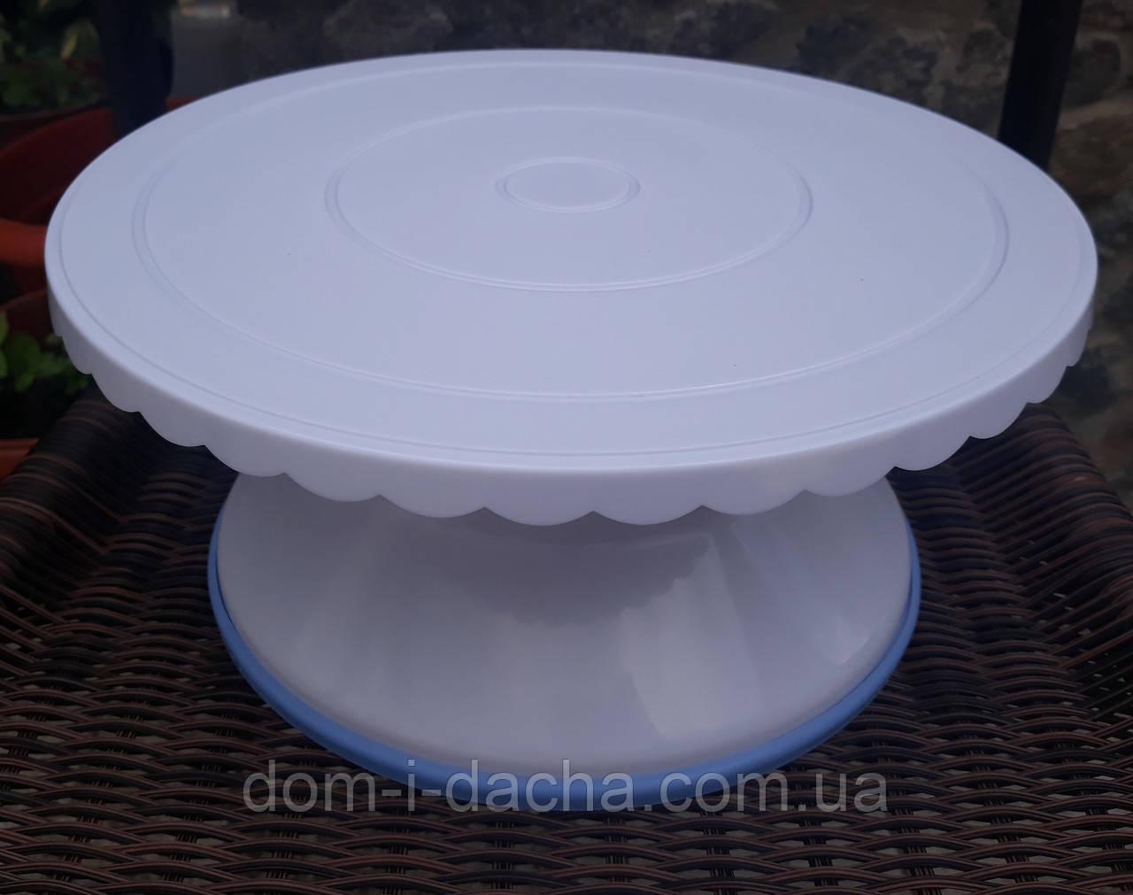 Столик поворотный кондитерский для торта 12 см-28 см пластик