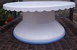 Столик поворотный кондитерский для торта 12 см-28 см пластик, фото 4