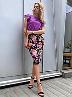 Костюм юбка с блузой  в расцветках 36799