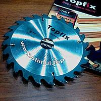 Диск пильный по дереву 216 х 30 х 60Т для циркулярки с твердосплавными напайками / Пиляльні диски TOPFIX