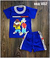Летний костюм на мальчика футболка с шортами.