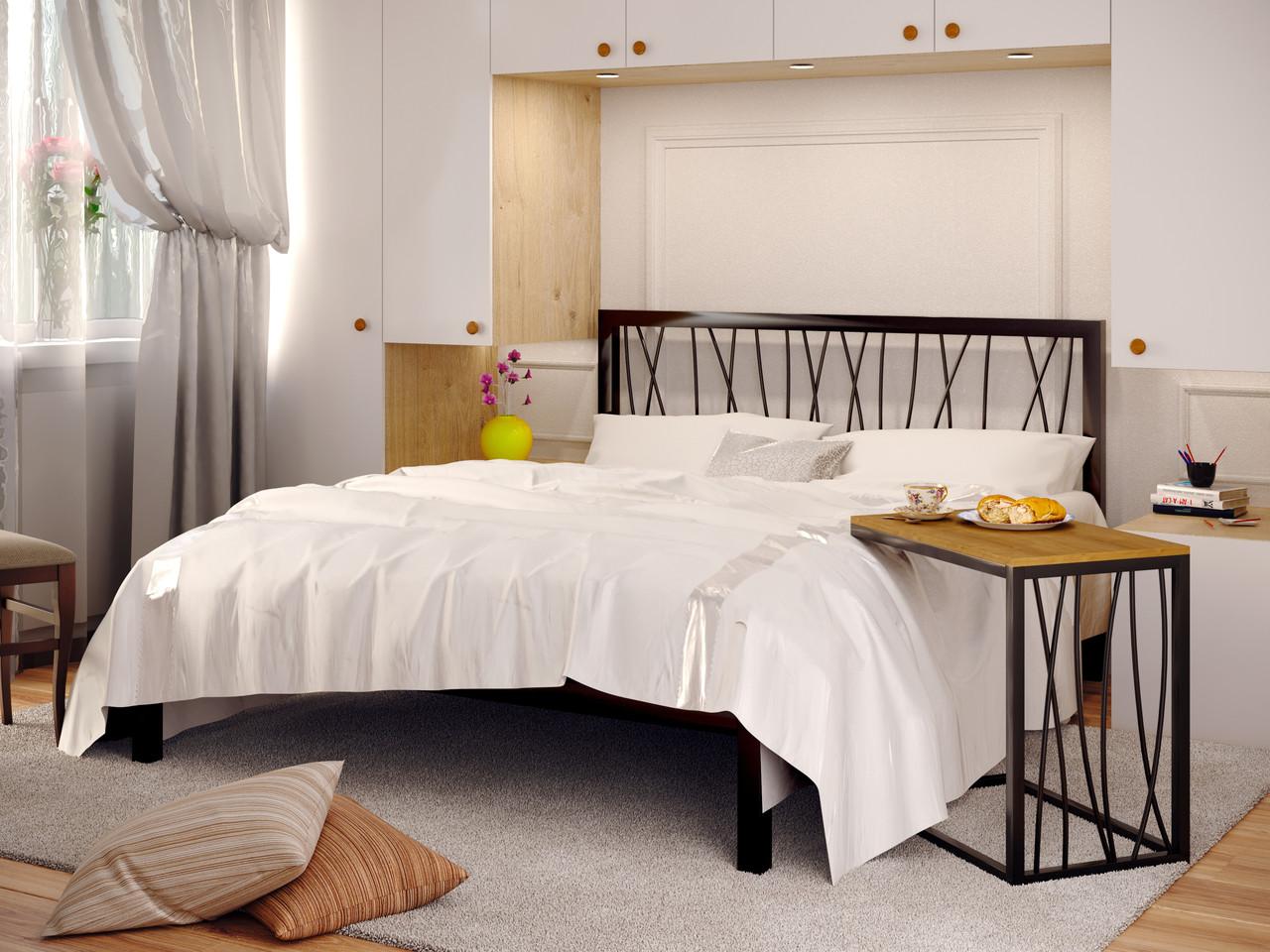 Прикроватный столик ВТ BERGAMO в стиле Лофт  ТМ МЕТАКАМ