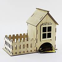 Чайный домик с забором 21х10х16 см.