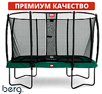 Батут квадрат Berg Ultim Champion Regular 11 Ft Green + защитная сетка Safety Net Deluxe