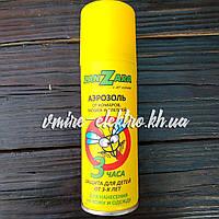 Аэрозоль от комаров, мошек и слепней от 3-х лет ZanZara 3 часа 100 мл