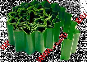 Бордюр PALISAD 644818, для клумб и газонов, 15х900 см, зеленый