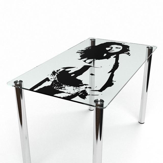 Столы прямоугольные из стекла