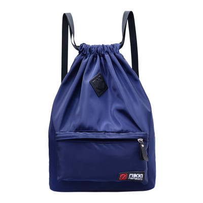 Рюкзак-мешок спортивный темно-синий с ромбиком