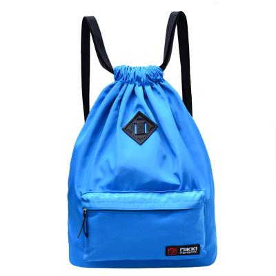 Рюкзак-мешок спортивный голубой с ромбиком