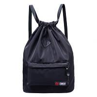 Рюкзак-мешок спортивный черный с ромбиком