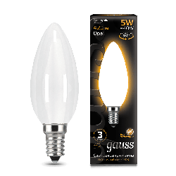 Лампа Gauss LED Filament Candle OPAL E14 5W 3000К