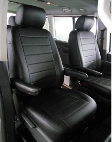 Чехлы на сиденья Фольксваген Кадди (Volkswagen Caddy) (1+1, модельные, экокожа, отдельный подголовник)