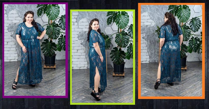 Изысканное пляжное платье из роскошного кружевного гипюра батал  с 50 до 98 размер, фото 2