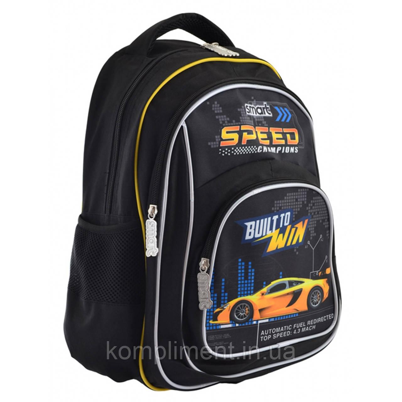 """Рюкзак школьный подростковый для мальчика ZZ-01 """"Speed Champions"""", SMART"""