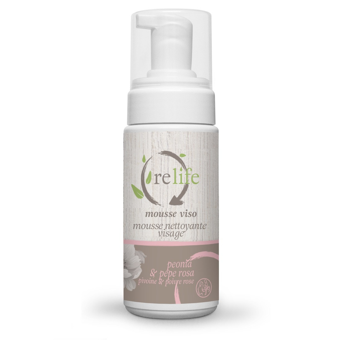 Мусс для лица пион и розовый перец  RELIFE Bema Cosmetici  ,150 мл