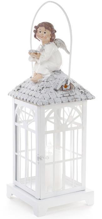 """Фонарь декоративный """"Ангел"""" 38см с LED-свечой, настольный или подвесной"""