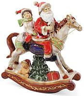 """Декор новогодний """"Санта на лошади"""" 24.3х10х27.5см фарфор"""