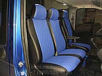 Чехлы на сиденья Рено Трафик (Renault Trafic) 1+2 (модельные, экокожа+Алькантара, отдельный подголовник), фото 1