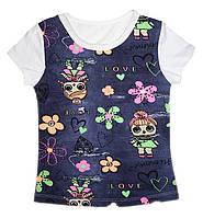 Летняя футболка для девочки Lol