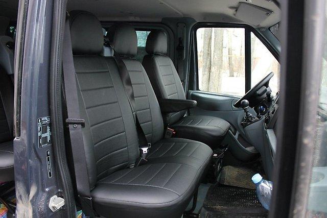 Чехлы на сиденья Опель Виваро (Opel Vivaro) 1+2  (модельные, экокожа+Алькантара, отдельный подголовник)