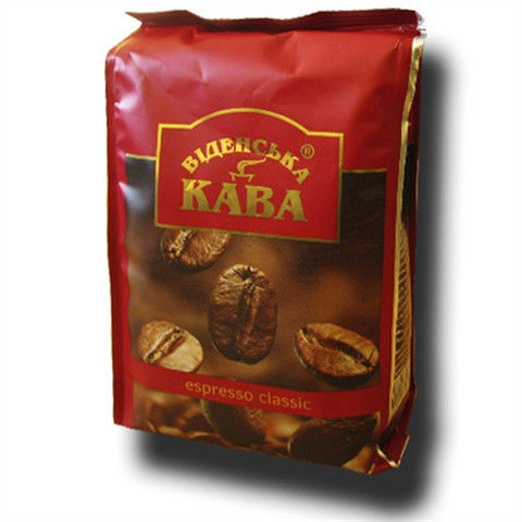 "Мелена кава ""Віденська Кава Espresso Classic"" 250 грам Україна"