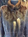 Норковый полушубок удлиненный из натуральной норки шубка норковая полушубок 46 48 размер в кредит, фото 7