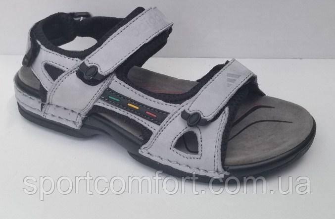 Сандали Adidas серые подросток