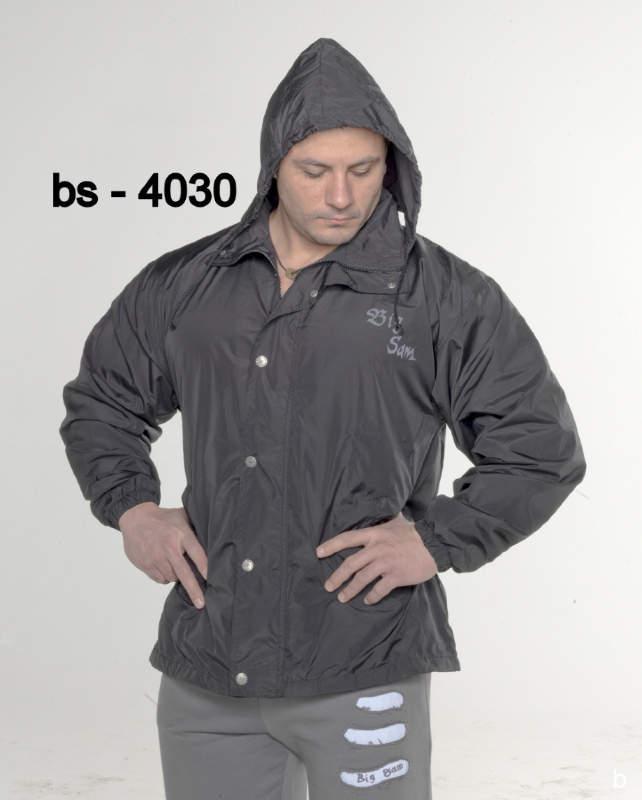 Куртка BigSam 4030 чорна з капюшоном розмір M
