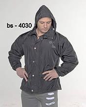 Куртка BigSam 4030 черная с капюшоном размер M