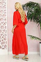 Стильная женская туника для пляжа  из шифона  красная с 50 до 56 размер, фото 2