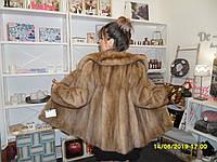 Мягкий норковый полушубок Saga Mink 44 46 размер М авто-леди из натуральной норки норковая шуба цельная норка, фото 1