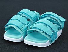 Женские трендовые сандалии\босоножки в стиле Adidas Adilette Sandal Mint Бирюзовые, фото 3
