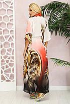 Молодёжная  длинная пляжная туника из шифона  с принтом Лео с 42 по 48 размер, фото 2