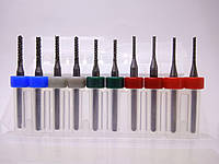 Набор фрез 1.3,  1.4, 1.6,  1.8, 2.0 мм. 3.175 мм. из вольфрамовой стали для гравировки на ЧПУ станках CNC
